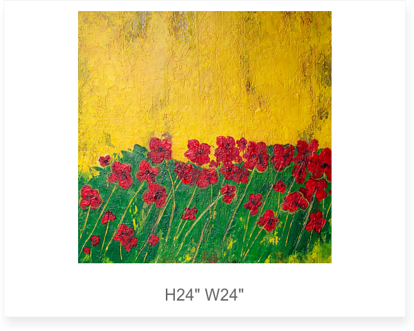 """Poppies II <font size=3 color=""""#ff0000"""">●</font>"""
