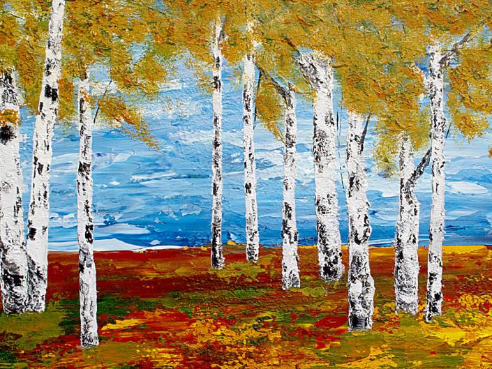 """Silent Birches <font size=3 color=""""#ff0000"""">●</font>"""