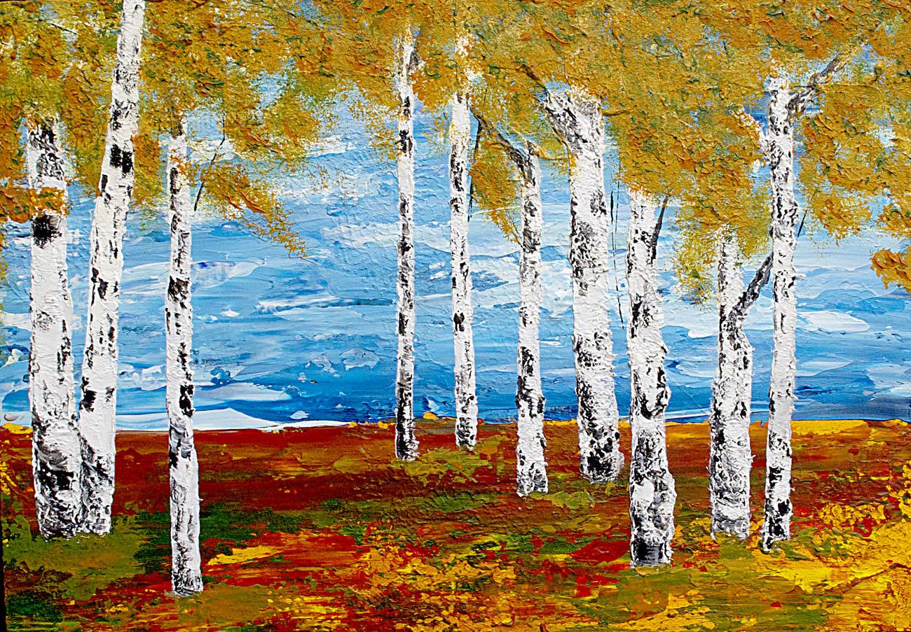 Sandra Bowen Silent Birches